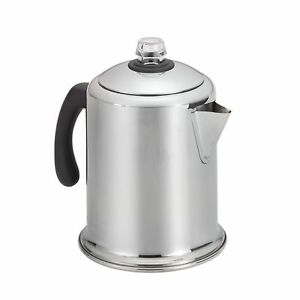 Image Is Loading Farberware Stainless Steel 8 Cup Coffee Maker Percolator