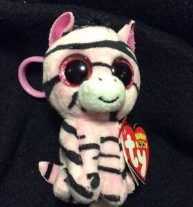 Ty Beanie Boo Zoey The Zebra W Backpack Clip 3