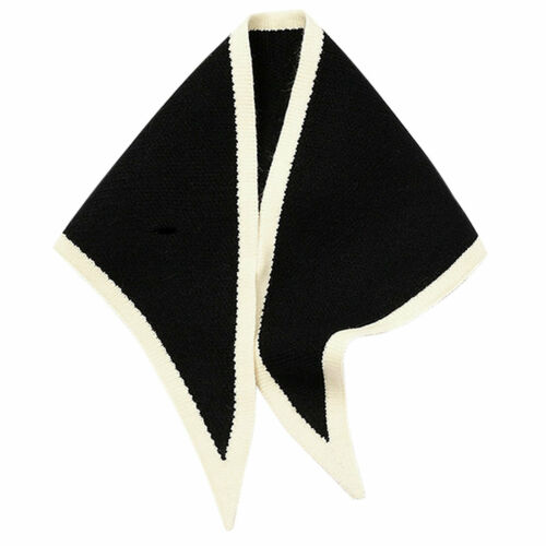 Contrast Color Triangle Neck Scarves Knit Scarf Neckerchief Winter Shawl Women