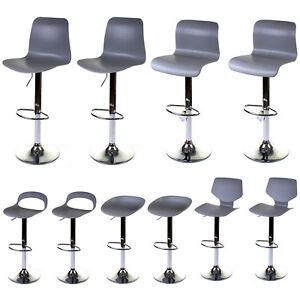 Super Details About 2X Grey Bar Stools Gas Lift Height Adjustable Kitchen Breakfast Swivel Seats Ibusinesslaw Wood Chair Design Ideas Ibusinesslaworg