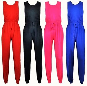 e0613f95c55 New Ladies All in one Racer Back Jersey Sexy Jumpsuit Playsuit ...