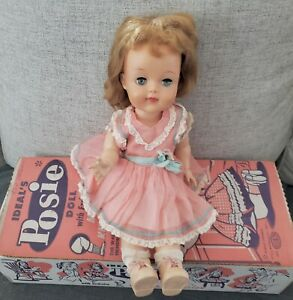 Vtg-Ideal-Posie-Doll-with-original-Box-Pretty-Face