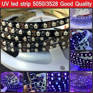 16-4ft-5M-UV-Ultraviolet-led-strip-395nm-SMD-3528-5050-Purple-LED-Flex-light-12V