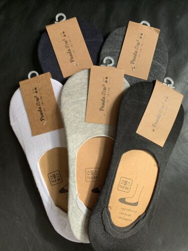 5 Pairs Mens Women Unisex Invisible Luxury Trainer Cotton No Show Secret Socks