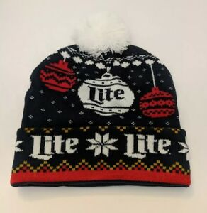 44df0ada3 Details about Miller Lite Beer Hat Ugly Sweater Design