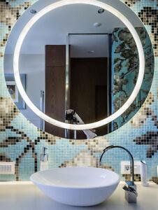 Image Is Loading 630 Mm Illuminated LARGE ROUND LED BATHROOM Mirror