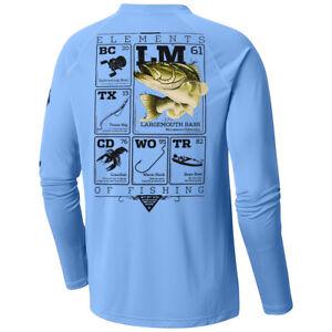 Columbia New PFG Large Mouth Bass Short Sleeve T-Shirt Men/'s Large Gray