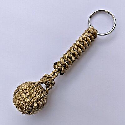 Monkey Fist Keychain Haute Qualité 550 Paracord-Choisissez parmi 32 Couleurs /& 2 Tailles