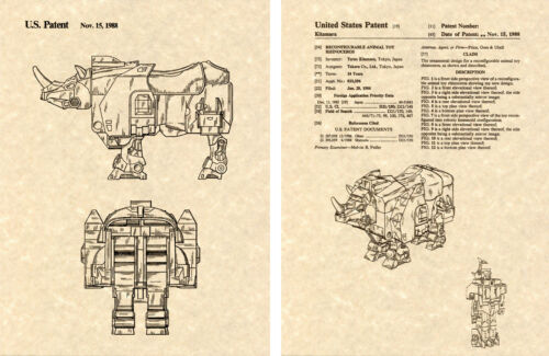 Transformers HEADSTRONG Patent Art Print READY TO FRAME! G1 Predacon Decepticon