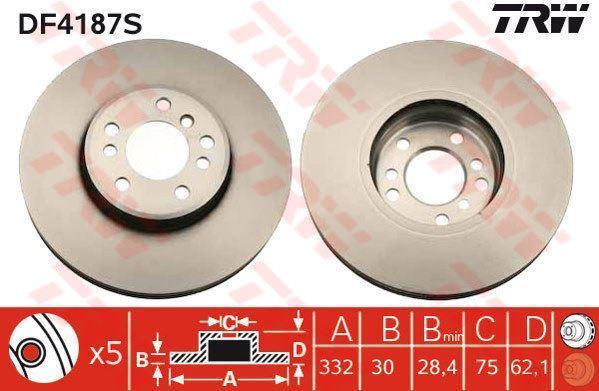 BAR30109 2x Bremsscheibe Bremse BARUM