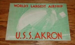 Original 1931 - 1932 U.S.S. Akron World's Largest Airship Brochure Catalog