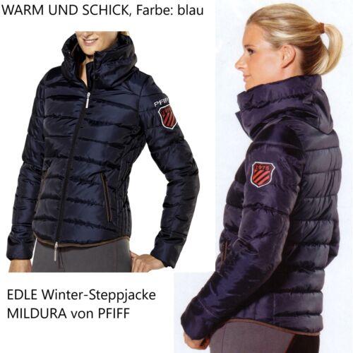 Warme blau Winterreitjacke Übergangs Damen Reitjacke PFIFF Steppjacke Mildura