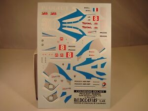 DECALS 1/43 PEUGEOT 908 HDI #8 LE MANS 2009  - COLORADO  43185
