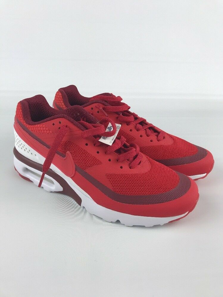 NEW MEN'S NIKE AIR MAX RUNNING ATHLETIC SHOES MAROON CRIMSON WHITE SIZE 7.5 NWT