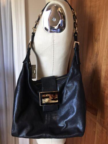 Fendi Forever Mama Hobo Handbag Bag Black Leather
