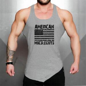 148ca636865ab Men s Casual Sport Stringers Workout Wear Vest Bodybuilding Gym ...