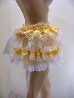 Sissy Adult Baby Yellow Ruffle Allround Diaper Cover Panties Waterproof Option