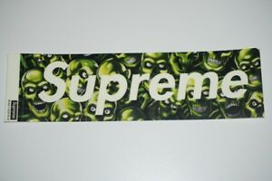 Supreme Box Logo Skull Pile Sticker SS18 Glows in the Dark New