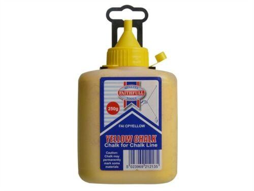 Yellow Marking Out Tools FAICPYELLOW Chalk Powder 250g
