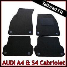Audi A4 / S4 B6 B7 Convertible Cabrio 2002-2009 Tailored Carpet Car Mats BLACK