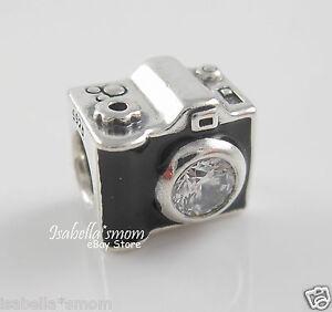 c7597a195 Image is loading Genuine-PANDORA-Black-Enamel-SENTIMENTAL-SNAPSHOTS-Camera- Charm-