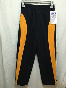 BNWT-Boys-or-Girls-Sz-10-LW-Reid-Brand-Microfibre-Zip-Leg-Navy-Gold-Track-Pants