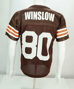 Champion-Kellen-Winslow-80-Cleveland-Browns-Equipo-Camiseta-Marron-Youth-LARGA