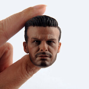 """1//6 David Beckham Head Carving Sculpt Model Male Figure for 12/"""" Action Body Doll"""