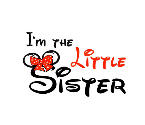 I/'m The Little Sister . Disney style  Baby Onesie Shower Gift.100/% Organic Cott