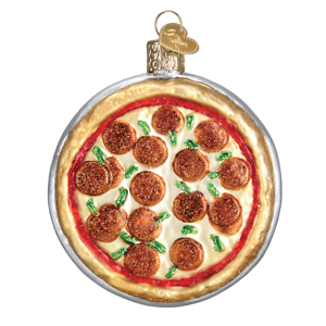 Old-World-Christmas-PIZZA-PIE-32350-N-Glass-Ornament-w-OWC-Box