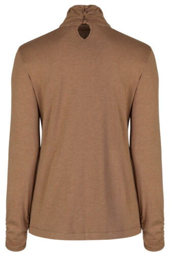 Marks /& Spencer Womens Long Sleeve Roll Polo Neck  Button Keyhole Detail M/&S Top