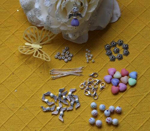 1 Smiley Ange Coeur Pendentif Cadeau Bastelset enfants Bijoux 88tlg 10