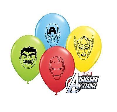 "8 x Marvel Avengers 5"" Klein Latex Ballons GESICHTER Party/geburtstag qualatex"
