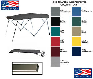 Details about SQUARE TUBE 4 BOW PONTOON BOAT BIMINI TOP 96