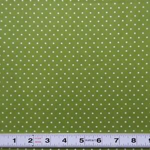 Lot-A440-WHITE-DOTS-ON-GREEN-by-Cottage-Pin-Patchwork-Fabric-by-the-metre