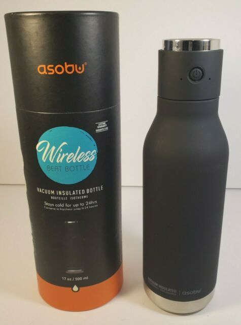 Asobu Fitness Water Bottle Tumbler Wireless Bluetooth Speaker Black New