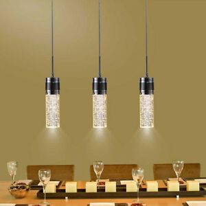 Modern Crystal Ceiling Light LED Bubble Pendant Lamp Dining Room ...
