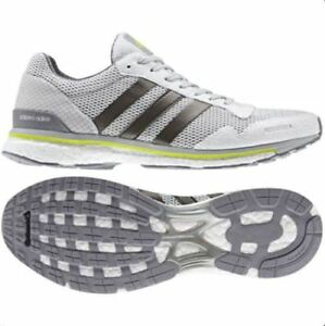 Details about Adidas Adizero Adios 3 m, Men's Size 12.5 D WhiteGreyMetallicYellow BB3313 NEW