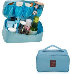 Beauty case donna da viaggio make up trolley borsa grande toilette trucco borsa