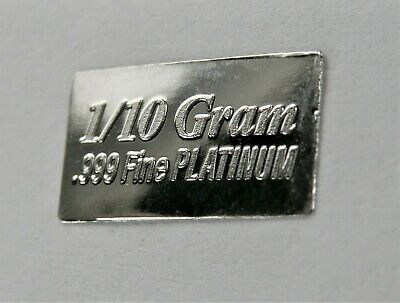 PLATINUM Pure .9995 PLATINUM approx.1//30 of a gram INVESTMENT BULLION BAR A18