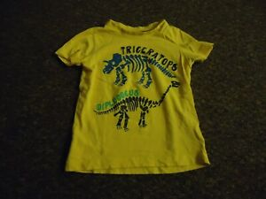 Mothercare-short-sleeve-Yellow-front-print-tshirt-age-2-3-years
