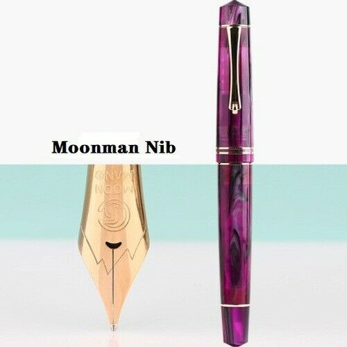 Moonman M800 Acrylic Resin Fountain Pen BOCK//Moonman F Nib(0.5mm Nib Ink Pen