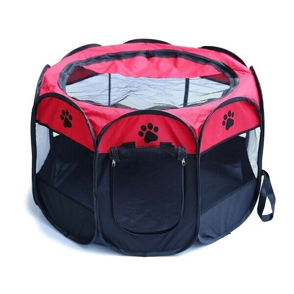 HK- Mini Pet Folding Crate Oxford Cloth Fence Dog Cat Kennel