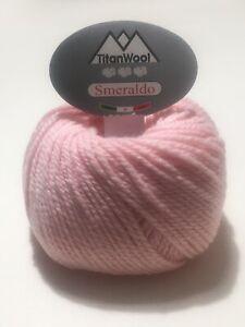 Bamboo rosa Filati ferri maglia gomitoli misto Cotone