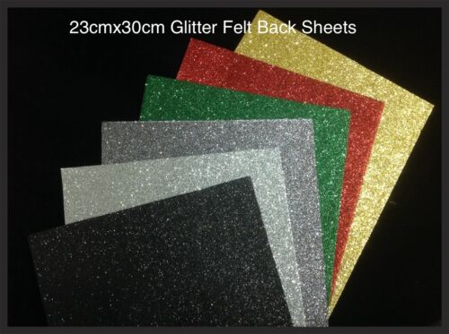 23x30 Sparkles glitter Felt Fabric Sheets Patchwork sewing  DIY Craft