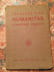 Leonardo-Zino-Humanitas-liriche-rosse-Societa-Editrice-Avanti-1922-POESIA