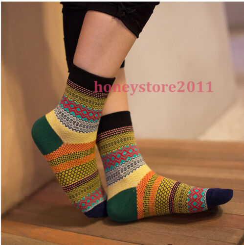 Multi-Color Stripe Cotton Socks Design Fashion Dress Men/'s Women/'s Socks Unisex