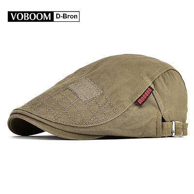7089e16d4 New Summer Mens Cotton Newsboy Gatsby Ivy Hats Golf Driving Cap Flat Cabbie  Caps | eBay