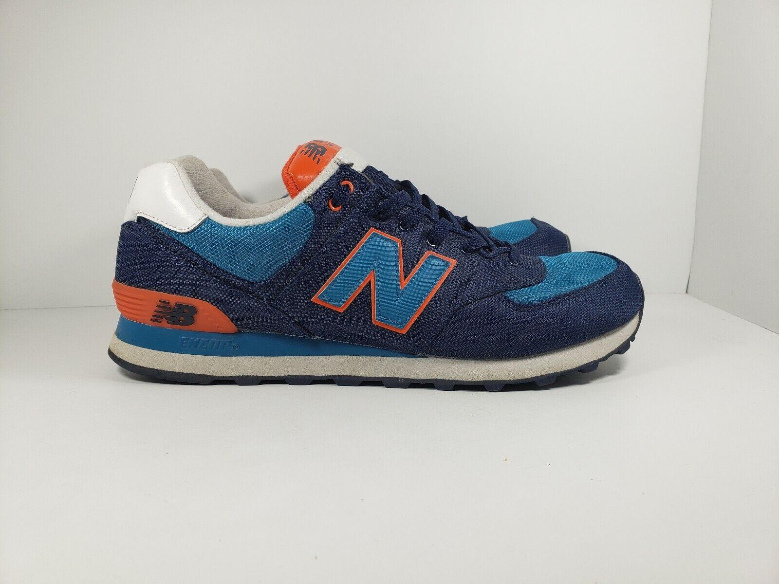 New Balance 574 ML574WNC bluee & orange Core Plus Athletic  Mens Sz 13 Great Cond
