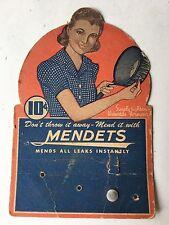 Vintage 1920s Mendets Kit Mends Pots & Pans All Leaks Instantly